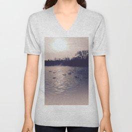Winter lake Unisex V-Neck