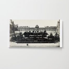 Tuileries from the Louvre Metal Print