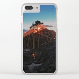 Night sky on fire Clear iPhone Case