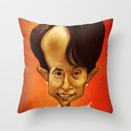 Aung San Suu Kyi Throw Pillow