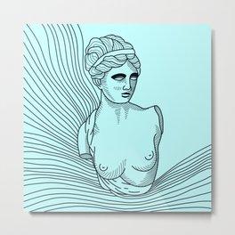 waves of Venus in blue Metal Print