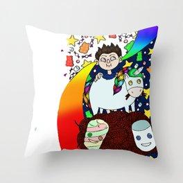 Unicorn taste Throw Pillow
