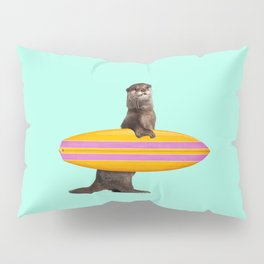 SURFING OTTER Pillow Sham