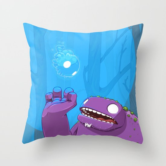 Ghost of Mello Marsh Throw Pillow