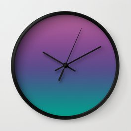 Gradient Spring Crocus Ultra Violet Arcadia Pattern | Pantone colors of the year 2018 Wall Clock