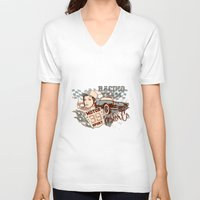 racing V-neck T-shirts featuring Racing Team by Tshirt-Factory