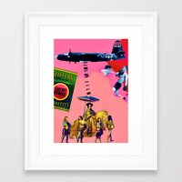 entourage Framed Art Prints featuring Filtered Cigarettes by AF Knott
