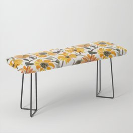Sunflower Watercolor – Yellow & Black Palette Bench