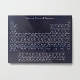 Periodic Table Metal Print