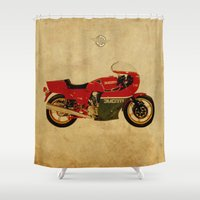 ducati Shower Curtains featuring Ducati 900 MHR 1980 by Larsson Stevensem