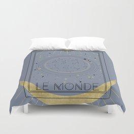 The World or Le Monde Tarot Duvet Cover