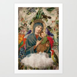 Saints Collection -- Madonna And Child Art Print