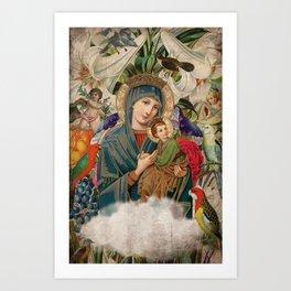 Saints Collection -- Madonna And Child Art Print