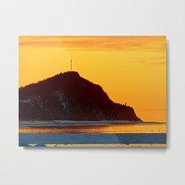 Lighthouse Mountain lit from Afar Metal Print