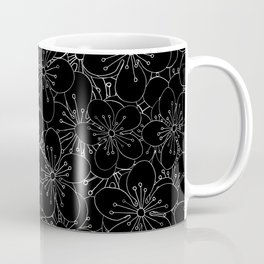 Cherry Blossom Black on White - In Memory of Mackenzie Coffee Mug