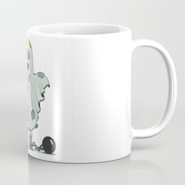 Scary child disguised as a ghost Coffee Mug