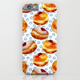 My Bubbie's Hanukkah Jelly Donuts (Hanukkah Sufganiyot) iPhone Case