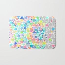 Rainbow Cubes & Diamonds Bath Mat