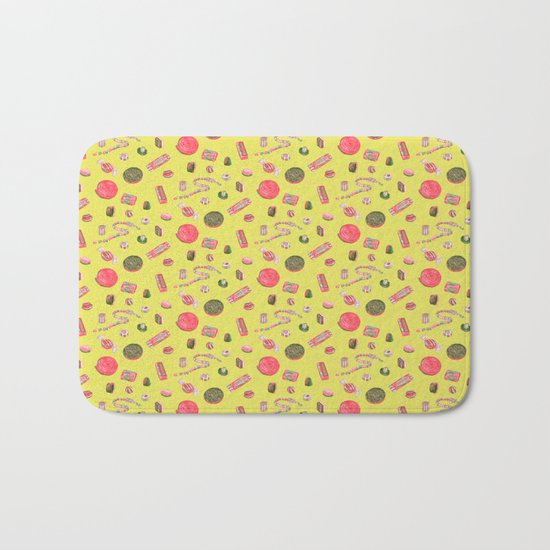 Old Fashioned Boiled Sweets by Chrissy Curtin Bath Mat