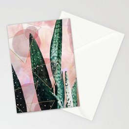 Plant circles & triangles Stationery Cards
