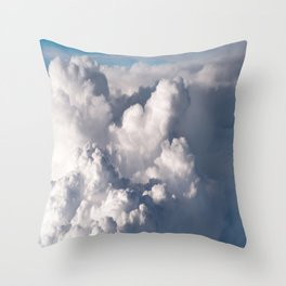 Fluffy clouds formation Throw Pillow