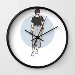 1990s Retro Fashion - Square Pants Wall Clock