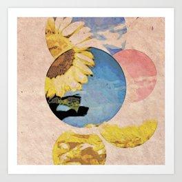 Peeping Sunflower Art Print