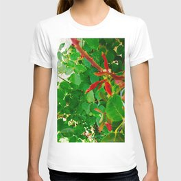 Roses Leaves Photography T-shirt