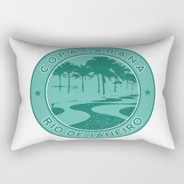 Copacabana beach, green circle, Rio de Janeiro, Brazil Rectangular Pillow