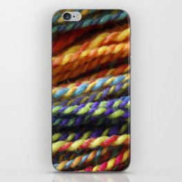 Rainbow Handspun Yarn Close up iPhone Skin