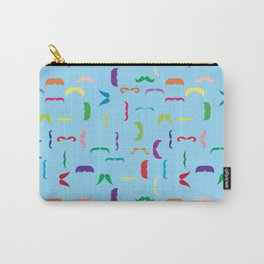 Colorful Mustaches Swimming In The Ocean Pattern Moustache Carry-All Pouch