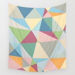 Modern  Pastel Colors Geometric Pattern Wall Tapestry