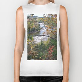 Winding River in Autumn Biker Tank