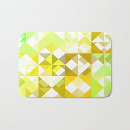 Pale Yellow Poinsettia 1 Abstract Triangles 1 Bath Mat