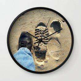 Beach of Big Feet Wall Clock