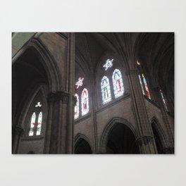 La Basílica del Sagrado Voto Nacional, Ocho Canvas Print