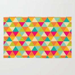 colorful polygon Rug