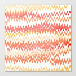 Messed Up Chevrons Canvas Print