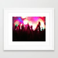 rave Framed Art Prints featuring rave by xp4nder