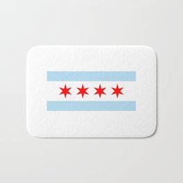 Chicago Flag Bath Mat