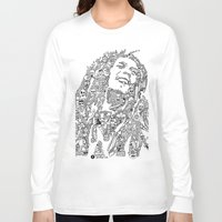 marley Long Sleeve T-shirts featuring Marley by Ron Goswami