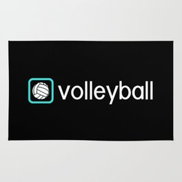 Volleyball (Blue) Rug