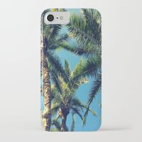 palm tree iPhone & iPod Cases featuring Palm Tree by Jillian Stanton