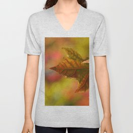 Autumn Leaf Unisex V-Neck
