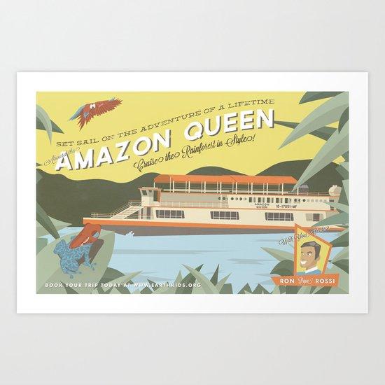 The Amazon Queen Art Print