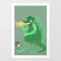Godbilla Art Print