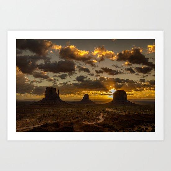 Monument Valley - Vivid Sunrise Art Print