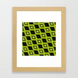 Black and Yellow Diamonds Framed Art Print