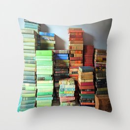 Vintage Library Throw Pillow