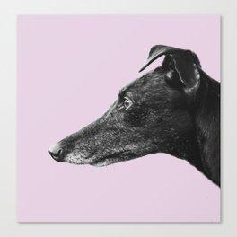 Greyhound Profile Design Canvas Print